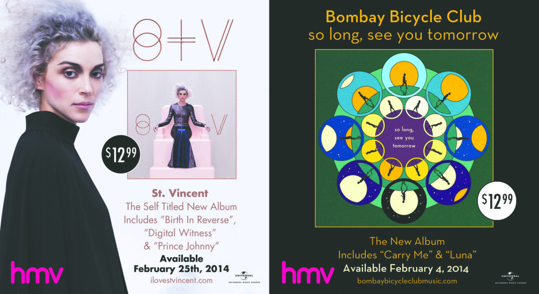 St. Vincent/Bombay Bicycle Club Ad